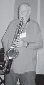 Johnny Doyle learned to play the saxophone at Whitesburg High School and has been entertaining with music since that time.