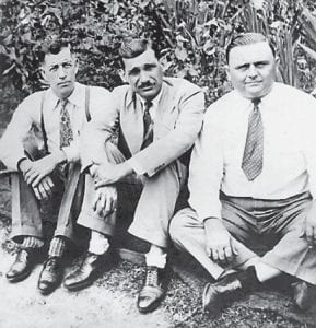The Rev. Kernel Sexton (left) and his daughter, Emma Jean, died in an accident 60 years ago. He is pictured with Archie Craft (center) and Kirby Ison (right).