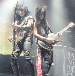 Guitarists Jake Pitts and Jinxx perform with their band Black Veil Brides in Pikeville last week at a show headlined by Avenged Sevenfold.
