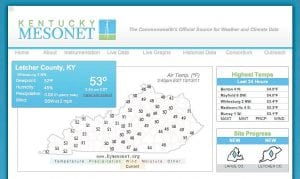 Weather data collected at a new station near Whitesburg, like this from Monday, is available at www.kymesonet.org.