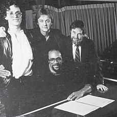 Pictured are (left to tight) Steve Pocoro, Doug Buttleman, Ed Cornett and Quincy Jones.