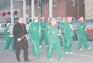 Members of the Jenkins High School marching band helped spread Christmas cheer when they participated in the Christmas parade in downtown Whitesburg. (Photos by Sally Barto)