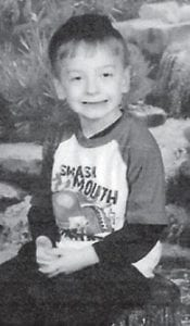"""COLTON GABRIEL TRENTWHITAKER turns 5 on Dec. 29. He is the son of Amber Trent and Brad Jackson of Cowan, and Junie Whitaker of Neon. He is the grandson of Tammy Trent of Talbot, Tenn., Ron Hampton of Michigan, Johnny Whitaker Sr. of Jeremiah, and Teresa Hopkins of Mayking. He is the great- grandson of Hager and Margaret Trent of Cowan, and great-greatgrandson of Elmo Day of Cowan and the late Deola Day. Big Cowan correspondent Christine Fields says, """"Happy birthday, Colton, and we all love you!"""""""