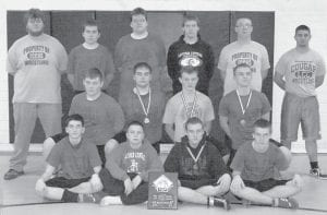 The Letcher County Central High School wrestling team placed second in the Hawk Invitational held at Pike County Central on Dec. 10. Participating schools were Belfry, Eastridge, Letcher Central and Pike Central. Individual medalists were Ethan Hogg, Hunter Holbrook and C.J. Philpot, gold; Jordan Gibson, silver; and Tyler Daylong and Ethan Riley, bronze.