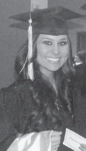— Danielle Nicole Bentley was graduated with a master's degree in occupational therapy from Eastern Kentucky University on Dec. 17. She earned a 3.8 grade point average. She is the daughter of Daniel and Jenni Bentley, and the granddaughter of the late Madge Combs of Whitesburg, and Estil and Lola Bentley of Neon.