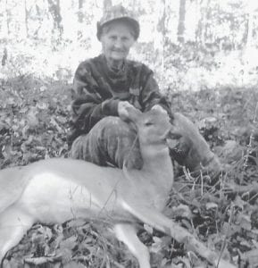 """This deer was killed in November by Loretta Lucas Blair. """"Not bad for a 76-year-old Lucas woman,"""" says her big brother Neal Lucas."""