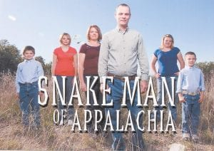 """The world premiere of """"Snake Man of Appalachia"""", a television reality show featuring the Verlin Short family of Mayking, will air on Animal Planet at 9 p.m. on Jan. 12. Pictured from left are Mackenzie, Denishea, Reva, Verlin, Wanda and Jeremiah Short. At least five episodes of the show will air, producers say."""