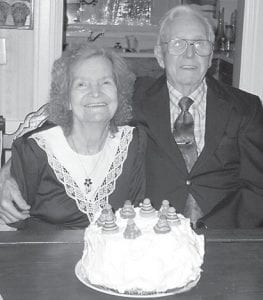 Along with a Christmas Eve celebration, the Collins family honored Orlando and Jackie Collins of Payne Gap, on their 66th wedding anniversary. The couple were married December 24, 1945 in Neon. They have nine children and a number of grandchildren and great-grandchildren. He is a veteran of World War II and served in the Pacific Theater .
