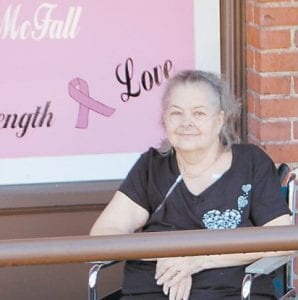 The City of Whitesburg honored Freda McFall outside City Hall during Breast Cancer Awareness Month last fall.