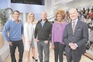 "The hosts of ABC's new daily talk show ""The Revolution"" are, from left, Ty Pennington, Dr. Jennifer Ashton, Harley Pasternak, Dr. Tiffanie Davis Henry and Tim Gunn. (AP Photo/ABC)"