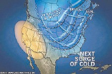 This map provided by AccuWeather show what lies ahead for the end of the week. Still, mild weather is expected to return.