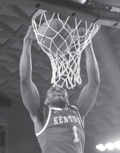 MILLER LEADS TEAM — Kentucky guard Darius Miller scored in the second half of Kentucky's 57-44 win over Georgia on Tuesday in Athens. (AP Photo/John Bazemore)