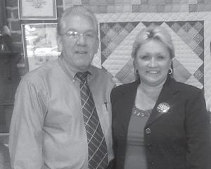 Phyllis Pugh Adams of Appalachian Drug Screening Services of Isom is the newest member of the Letcher County Chamber of Commerce. She is a licensed practical nurse and a certified addictions registered nurse. Her company offers alcohol and drug testing for pre-employment, educational physicals and counseling. She is pictured with Letcher County Economic Development Director Joe DePriest.