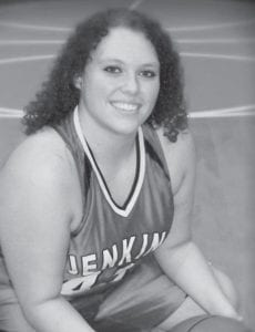 """Kristan """"Blake"""" Caudill, a senior at Jenkins High School, broke the school record for most rebounds in a single ballgame earlier this season. In a game against Jackson City, Blake had 26 total rebounds breaking the Lady Cavalier school record of 24. During the same game, Blake also tied for the most defensive rebounds in a game with 14."""