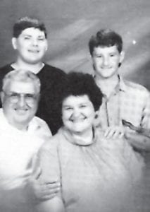 BANKS FAMILY — Jackson and Sandy Banks are pictured with their two sons, Jon David and Matthew.