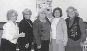 — Kathleen Brock, Dorothy Miles, Betty Tyree, Louise Shepherd and Oma Hatton celebrated Betty Tyree and Kathleen Brock's birthdays at Dairy Queen.