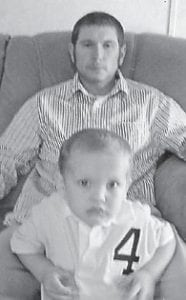 Landon Milam celebrated his fourth birthday Feb. 19 with a Mario Kart party. He is pictured with his father, Jeremie Milam, whose birthday is Feb. 25. He is also the son of Heather Milam, and the grandson of Tammy and Roy Triplett of Jenkins, Mary and Jimmy Milam of Dorton, and Doris and Jacky Estep of Lexington.