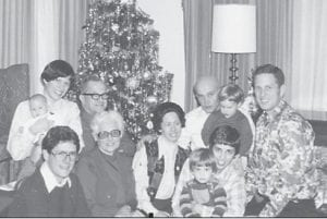 The Lewis family is pictured in this Christmas photograph.