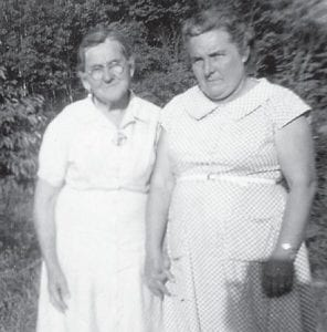 The late Lettie Miller is pictured with her aunt, the late Nancy Ann Collins, the mother of Dow Collins, in the early 1950s.