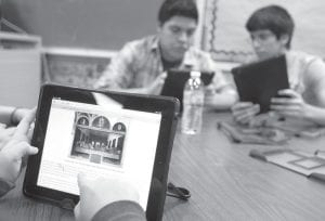 The Jenkins Independent School District hopes to begin providing students with iPad computer tablets like these handed out to students in McAllen, Texas earlier this week. (AP photo)