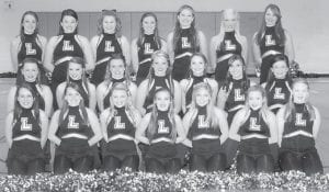 — The Letcher County Central High School dance team has participated in dance competitions as well as supporting its school teams through each season. In December, the group competed in Jamfest in Gatlinburg, Tenn., and was named the national champion in the pom competition In January, the dance team won regional competition in Shelby Valley in both the open and pom divisions of large varsity. In February, the team was in state competition and won first place in the large varsity open division, and placed third in the large varsity pom division. Pictured are (top row, left to right) Emily Cook, Summer Adams, Carley Caudill, Makaley Johnson, Sydney Meade, Taylor Slone, Allison Eldridge (middle row) Makenzie Brown, Rachel Lucas, Nicole Brown, Katie Craft, Courtney Venters, Alley Bowling, Katie Craft, Alexis Morris, (front row) Tayler Fleming, Kayla Brashears, Courtney Fields, Topanga Adams, Chelsea Wright, Hayley Collins and Daianara Bates. The dance team head coach is Phyllis Barker, the assistant coaches are Brenda Adams, Caitilyn Slone, Taylyn Combs and Brandon Garrett.