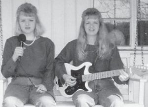 TWO JEWELLS — Angela Jewell Banks and her mother Jewell Marie Banks McFall are two-thirds of the musical group The Singing Jewells.