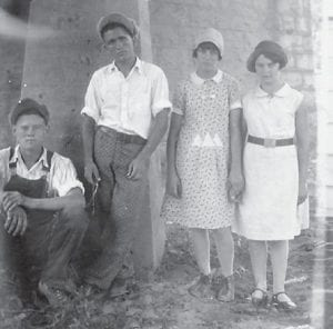 Jim Cornett sent in this photograph taken at Dry Fork on Aug. 9, 1930. The names on the back of the picture are Woodrow Cornett, Elmer Lucas, Mae Lucas and Evelyn Brown.