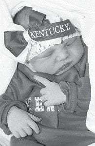 — Meah Reese Collins was born Feb. 29 at Whitesburg Appalachian Regional Hospital. She is the daughter of Arletta and Tyler Collins of Cowan. Her grandparents are Paul and Verna Adams of Isom, Jeff and Michelle Potter of Jackhorn, and Candace and Paul 'Herky' Brooks of Isom. Her great-grandparents are Jim and Jeanette Dewitte of Texas, Kay and Leonard Boggs of Cowan, and Paul and Joyce Brooks of Sandlick.