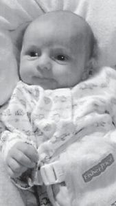— Eli James Noble was born Jan. 19 to Chuck and Amy Noble of Rockfield. His grandparents are Charles and Pearl Noble of Ermine, Kevin and Beverly Lovelace of Bowling Green, and Jimmy and Barbara Smith, also of Bowling Green. He has an older sister, Rayna Ann Delancey, and an older brother, Aaron Charles Noble.