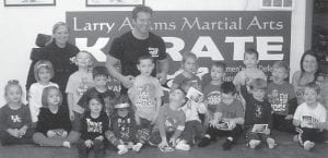 — Pre-school students at West Whitesburg Elementary School recently took a field trip to Larry Adams Martial Arts in Whitesburg. Pictured are (first row, left to right) Juana McElroy, Molly Hall, Macey Warf, Colton Stidham, Raegan Turner, Dylan Polly, Peyton Hammonds, Caleb Sexton, (second row) Ava Thomas, Jayda McElroy, Dalton Sexton, Ethan Bailey, Luke Polly, (third row) Lacey Adams, Larry Adams, Ella Ison, Joseph Pack, Sam Adams, Paxton Hammonds and Melissa Addington.