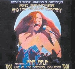 The cover of Live at the Carousel Ballroom 1968 is seen.
