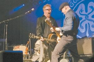 Members of Flogging Molly performed live recently in Asheville, N.C.