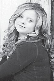 — Kaitlyn Davis turned 13 years old on March 14. She is the daughter of Heather Blair of Mayking and Steve Davis of Haysi, Va., and is a seventh-grade student at Whitesburg Middle School. She recently won supreme most beautiful and Kentucky cover model in the Kentucky Sweethearts Pageant in Hazard.