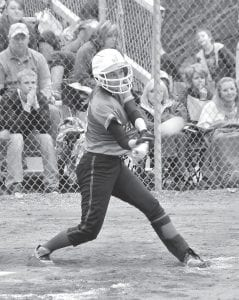 Jenkins senior Ashley Wright smacked a fourth-inning double during the Lady Cavaliers' 11-1 victory over Clintwood last week. Wright was 3-3 with a single, two doubles, a run scored, and an RBI in the game. The Lady Cavs started the season with a 3-0 record. (Photo by Chris Anderson)