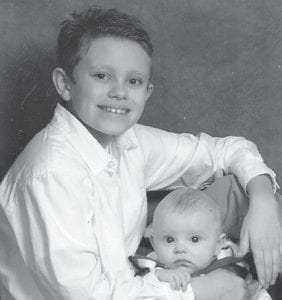 — Ashton Blake Fugate, 11, is pictured with his brother, Reece Aldon Fugate. Reece was born at Appalachian Regional Hospital on Sept. 24. He is the son of Allen Monroe and Melinda Fugate of Blackey. Grandparents are Donnie and Malvery Fugate of Hazard, Allen and Sherry Fugate of Blackey, and Sally Caudill of Dry Fork. He is the greatgrandson of Ella Mae Fugate of Carcassonne.