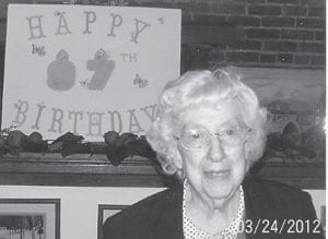 BIRTHDAY — Elsie Banks celebrated her 97th birthday March 24 with a party at The Courthouse Café.