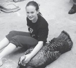 Sameerah Frazier killed her first turkey while hunting with her grandfather Darrell Holbrook. Sameerah, 11, is the daughter of Sam and LaShona Frazier and has a sister, Skyler.