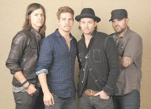PERFORM IN LEXINGTON — Members of the band NeedToBreathe are, from left, Seth Bolt, Bo Rinehart, Bear Rinehart, and Joe Stillwell.