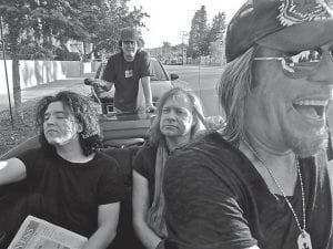 Drummer Matt Abts (right) drives the sound of Planet of the Abts, which features fellow Gov't Mule member Jorgen Carlsson (far left) on bass and T-Bone Andersson (seated behind Abts) on guitar, keyboards and vocals. Standing behind the three band members are producer Steve Holroyd. Planet of the Abts will peform at Summit City on Saturday.