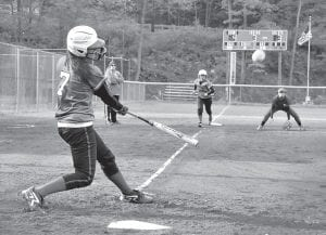 Kayla Stambaugh hit a bases-clearing double to help Jenkins past Letcher Central. (Photo by Chris Anderson)