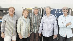 The Beach Boys, from left, Bruce Johnston, Al Jardine, Mike Love, Brian Wilson and David Marks pose for a portrait in Burbank, Calif. (AP Photo)