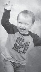— Aiden Banks celebrated his second birthday Jan. 16. He is the son of Kris and Bethany Banks of Nicholasville. His grandparents are Steve and Bonnie Billock, and Cheri Banks and Earl Banks, all of Nicholasville. He is the great-grandson of Darrell and Janice Profitt of Camp Branch.