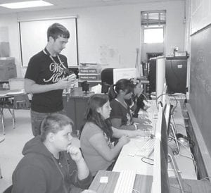 Jenkins High School dual credit students in partnership with the LEAP grant recently visited the sixth-grade classes at Burdine and McRoberts elementary schools to assist with the Individual Learning Plan and to mentor the students.