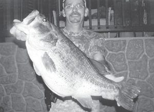 Tim Lucas of Sandlick, caught this 12 pound, six ounce bass at Fishpond Lake in April. The fish was 25 ¼ inches long and was 22 inches in girth. Dennis Adams of Double A Taxidermy is mounting the bass for Lucas.