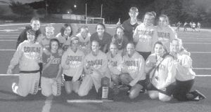 Members of the Letcher County Central girls' championship team are (front row, from left) Samantha Mullins, Freddi Adams, Haley Whitaker, Nicole Banks, Lindsay Kincer, Ashley Johnson. Caitlyn Collier, Endia Lillie, (back row, from left) Lexie Smith, Meg Raleigh, Katilyn Collier,Leanna Bryant, Alley Bolling, Tammi Hall, Brooke Adams, Keisha Baltis, and Kendra Lewis.