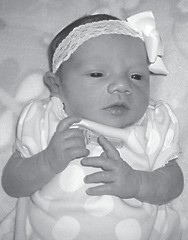 — Hannah Grace Sturgill was born April 28 at Whitesburg Appalachian Regional Hospital to Joseph 'Opie' and Kimberly Sturgill of Ermine. She is the granddaughter of Randy and Marilyn Branham of Ermine, Rodney Sturgill of Eolia, and Angie Sturgill of Sandlick. She is the greatgranddaughter of Fairley and Shirley Lewis of Eolia.