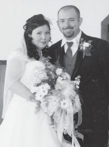 Sabrina Hall and Gary J. Halcomb Jr. were married Dec. 10 at Millstone Methodist Church by Harold D. Kincer. After a honeymoon trip to St. Lucia, they are residing at Gordon. She is the daughter of Verling and Bonnie Hall of Mayking. He is the son of Gary and Donna Halcomb of Gordon.