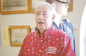 Whitesburg Mayor James W. Craft spoke during the Memorial Day service at the Veterans Memorial Museum.