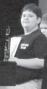 — James Dalton Slone, son of Vanessa Slone Fleming and grandson of Paul and Nellie Fleming, performed April 3 at the Mountain Arts Center. He plays clarinet and is a member of the West Whitesburg Band. He is a student at Beckham Bates Elementary School where he has a 4.0 grade point average.