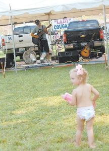 Layla Holbrook, 2, danced as Whitesburg musician Kori Breeding performed. Layla, of Rutledge, Tenn., is the daughter of Jessica Holbrook and Garrett Elkin. Her grandmother is Laverne Bentley of Jenkins.